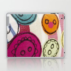 Embroidered Buttons Pink Laptop & iPad Skin