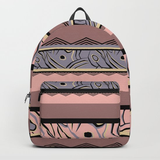 Abstract Ethnic pattern ,striped. Backpack