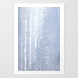 Fountain water streams dynamic motion Art Print