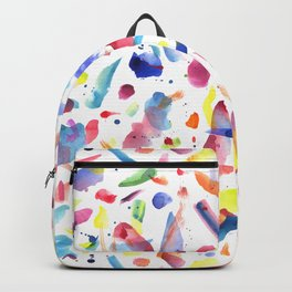 Abstract Painterly Brushstrokes Backpack