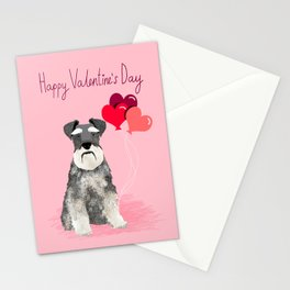 Schnauzer love balloons valentines day schnauzers must have pure breed gifts Stationery Cards