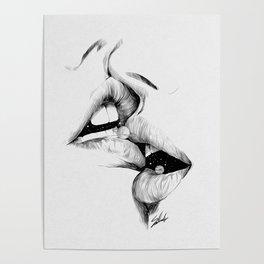 Universe kiss. Poster