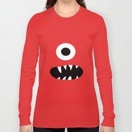 Cute Kids Monster Face Pattern Long Sleeve T-shirt