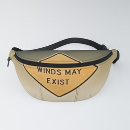 Gusty Winds Sign Fanny Pack