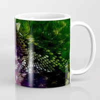 interstellar Mugs featuring Interstellar Snake by Distortion Art