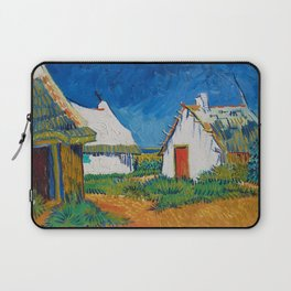 Three white cottages in Saintes-Maries by Vincent van Gogh Laptop Sleeve