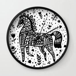Little Black Pony Wall Clock