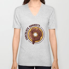Chocolate donnuts Unisex V-Neck