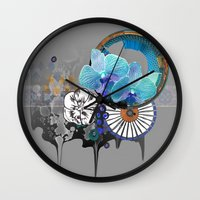 orchid Wall Clocks featuring Orchid by Sabah