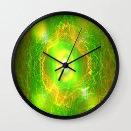 Green Pulsar Radiant Wall Clock
