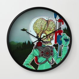 MARS ATTACKS Wall Clock