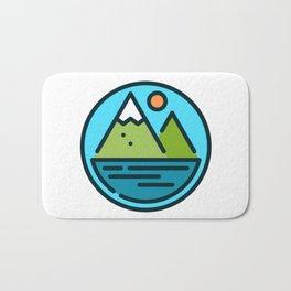 Mountain Beach Bath Mat