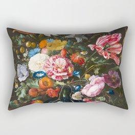 Vase with flowers - Jan Davidsz. de Heem (1670) Rectangular Pillow