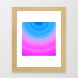 Pink & Blue Circles Framed Art Print