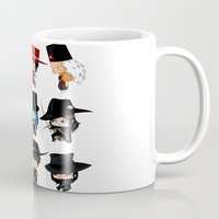 anime Mugs featuring Anime Hatters by artwaste