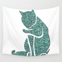 sassy Wall Tapestries featuring Sassy Cat by Rudi Rodebush