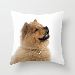 Chow Chow profile Throw Pillow