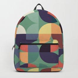 Mid century modern geometric shapes 22 Backpack