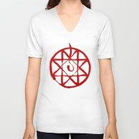 fullmetal V-neck T-shirts featuring Alphonse by KanaHyde