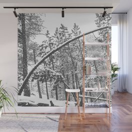 Forest Snowfall // Winter Tree Black and White Landscape Photography Backwoods Woodlands Woods Wall Mural