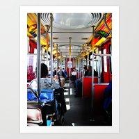 Circus Bus Art Print