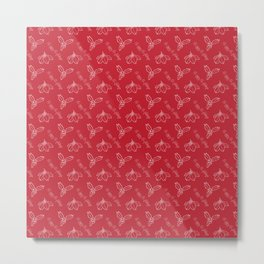 Happy Holidays on Red Metal Print