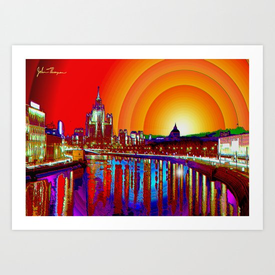 City canal Art Print