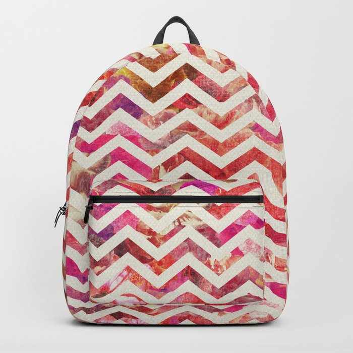 FLORAL CHEVRON Backpack