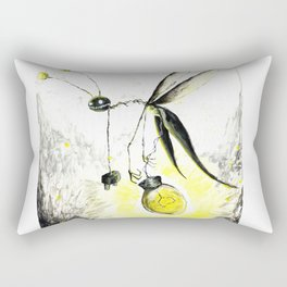 Overworked Lightening Bug Rectangular Pillow
