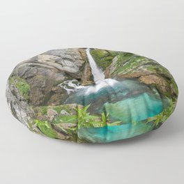 Savica Waterfall Photography Nature Floor Pillow