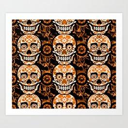 Halloween Calaveras Art Print