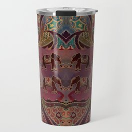 Floral Elephants #2 Travel Mug