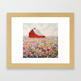 Hill Country Wildflowers Framed Art Print