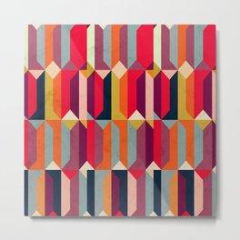 Geometric Icelandic Colors Metal Print
