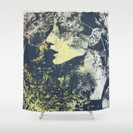 Third Stone From The Sun II | graffiti female portrait Shower Curtain