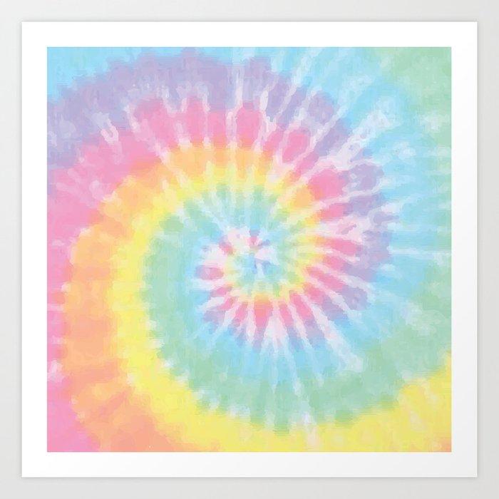 Pastel Tie Dye Kunstdrucke