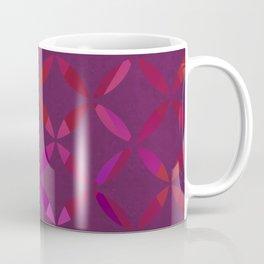 Fancy red and pink circle pattern Coffee Mug