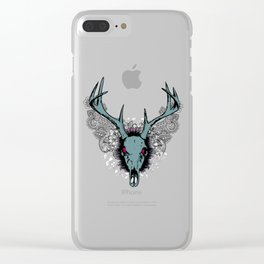 Deer skull Clear iPhone Case