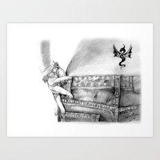My Favorite Jeans Art Print