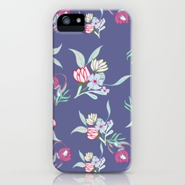 Petite Summer Purple Blue iPhone Case