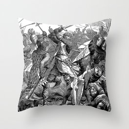 The Battle of Evesham: De Montfort's Last Stand Throw Pillow