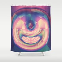 apple Shower Curtains featuring Apple by Truly Juel