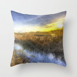 Ambling River Art Throw Pillow