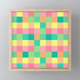 color squares fun love cute art new 2018 style fashion hot pop artist cover case skin shirt bag wall Framed Mini Art Print