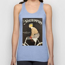 The Northampton Bicycle co. by Edward Penfield Unisex Tank Top