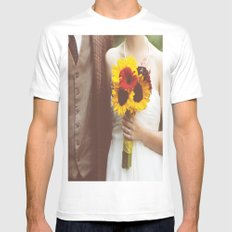 Man & Wife MEDIUM Mens Fitted Tee White