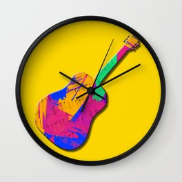 Groovy Guitar Wall Clock