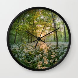 Bear's Garlic Forest Wall Clock