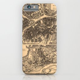 Iconographic Encyclopedia of Science, Literature and Art (1851) - Plans of St. Petersburg & Warsaw iPhone Case