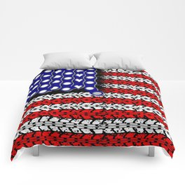 Bike USA Flag Comforters